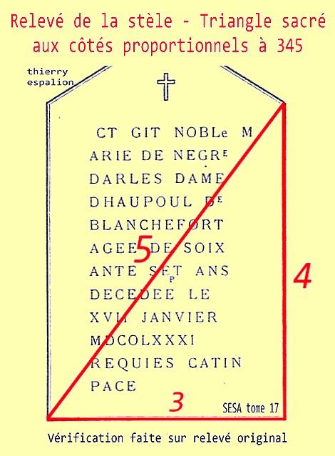 stèle et triangle sacré 345 thierry espalion
