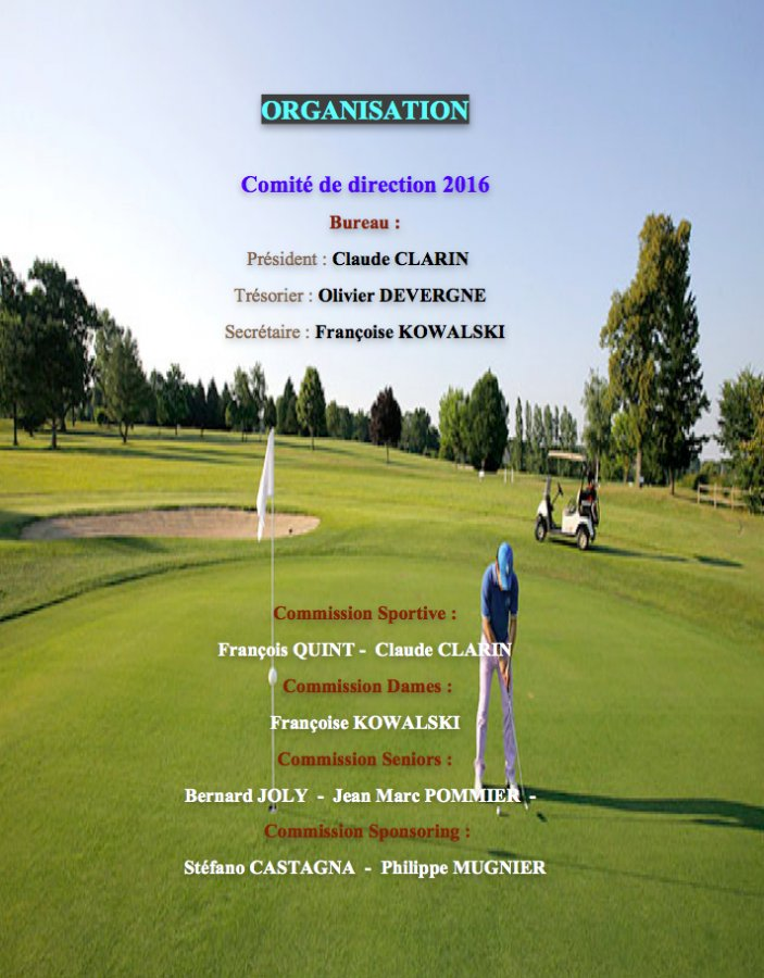 Association sportive du golf de c ron le bureau - Composition bureau association loi 1901 ...