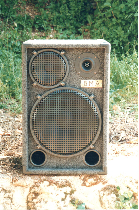 "Enceinte 3 voies 15"" Mid 8"" high bullet"