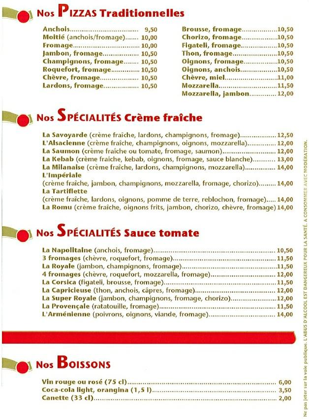Pizza ROMU Details