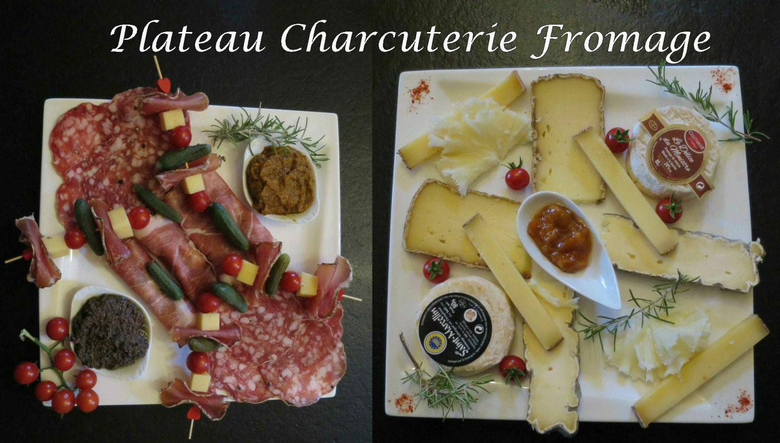 Repas charcuterie fromage