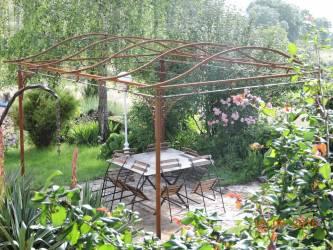 Pergola Gloriette Arche De Jardin En Fer Forgé