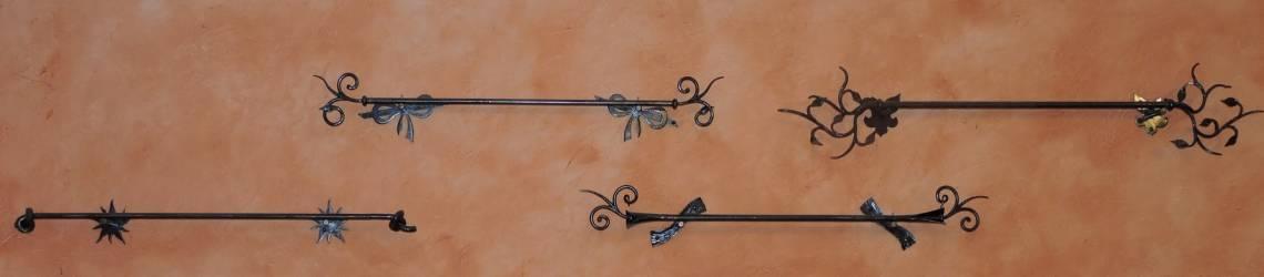 mobilier fer forgé: tringles à rideau sur mesure