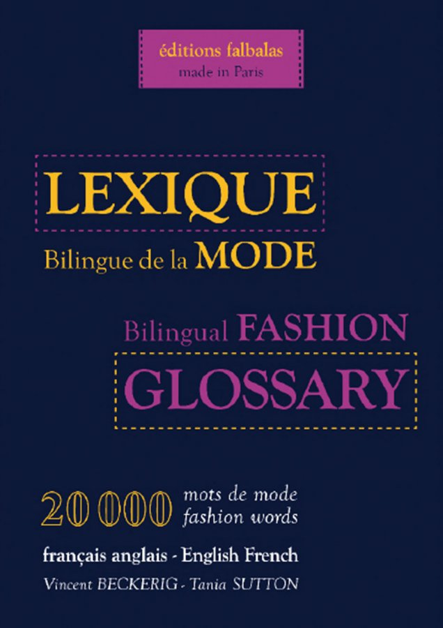 lexique billingue de la mode