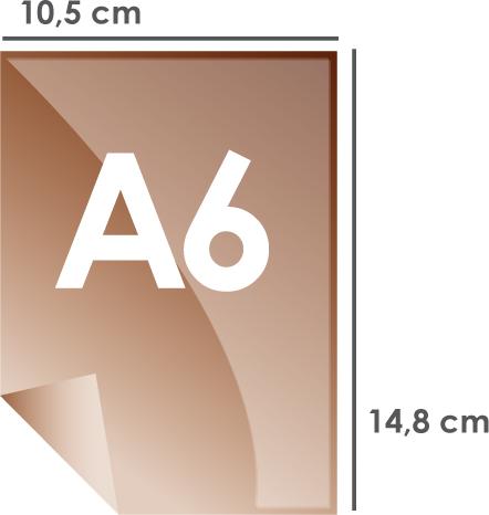 Format papier A6 105 x 148 mm