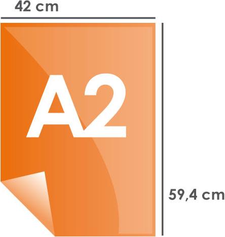 Format papier A2 420 x 594 mm
