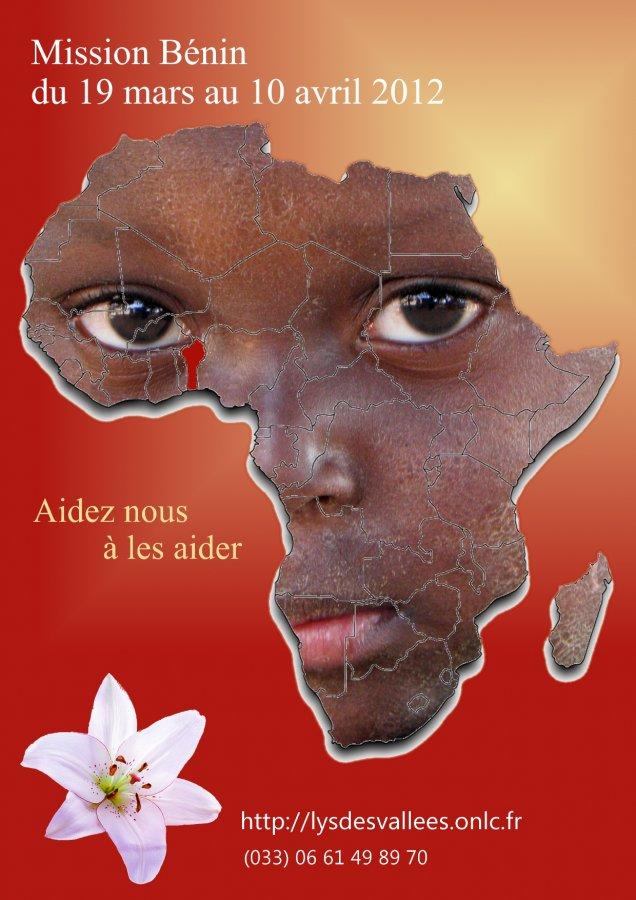 affiche parrainage orphelins Afrique Bénin