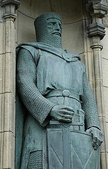 Statue de William Wallace au château d'Edimbourg,en Écosse.