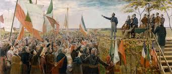 Louis-Joseph Papineau s'adressant à la foule,en 1837.