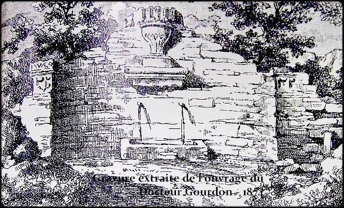 fontaine cercle - gravure Dr Gourdon - Thierry Espalion