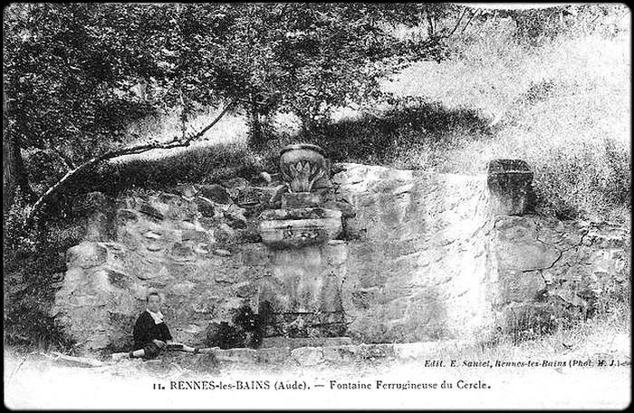 fontaine cercle basse - carte postale