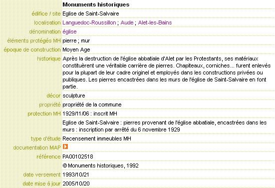 fiche monuments historiques