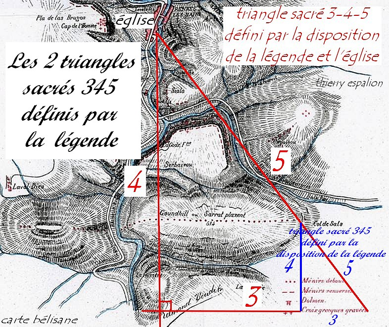 carte VLC légende et triangles sacrés 345 thierry espalion