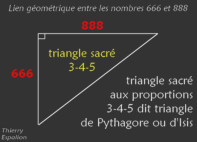 lien 666 et 888 triangle sacré 345 thierry espalion
