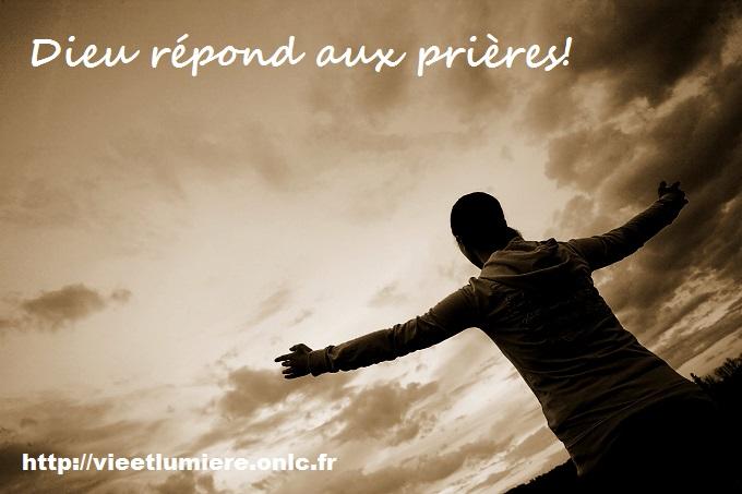 Dieu répond aux prières