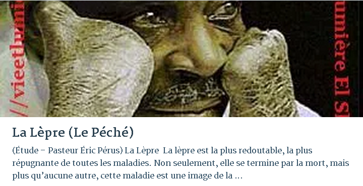 LA LÈPRE (LE PÉCHÉ)