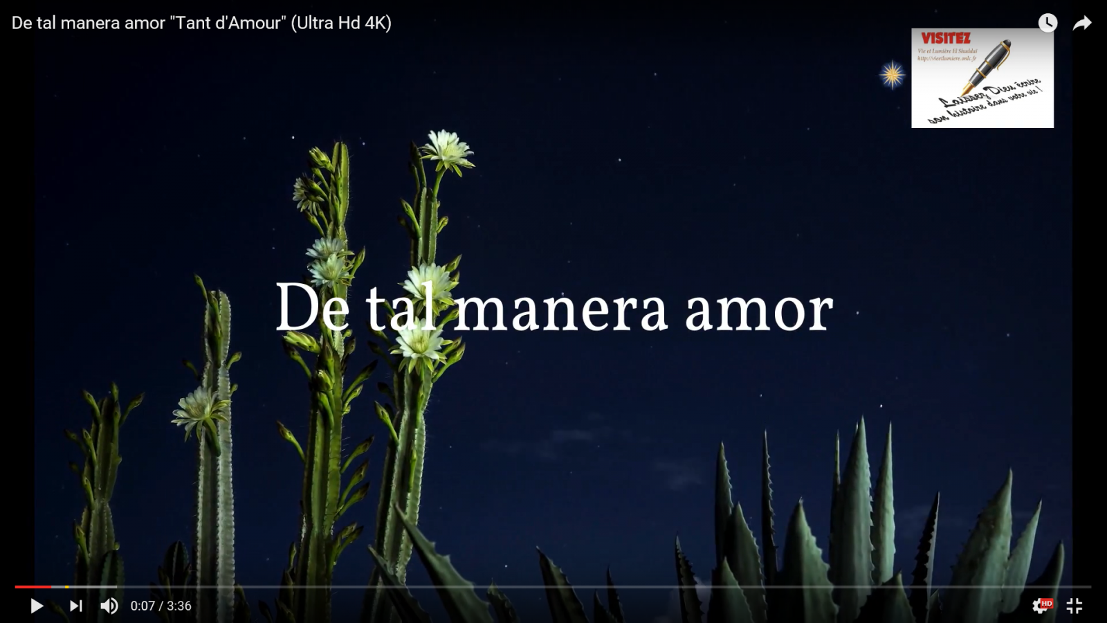"De tal manera amor ""Tant d'Amours"""